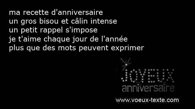 message sms anniversaire amour
